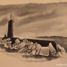 Cómics: SUBMARINO ATÓMICO NAUTILUS, MONNERAT (SUIZA 1917- ESP 2005), DIBUJO ORIGINAL. Lote 223320096