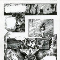 Cómics: DIBUJO ORIGINAL DE ENRIQUE ALCATENA - EL ZIGGURAT P.3, LANCIOSTORY 2002. Lote 223357362