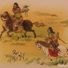 Cómics: EL TERRIBLE IMPERIO DE GENGHIS KAN. MONNERAT (SUIZA 1917- ESP 2005), DIBUJO ORIGINAL. Lote 223376996