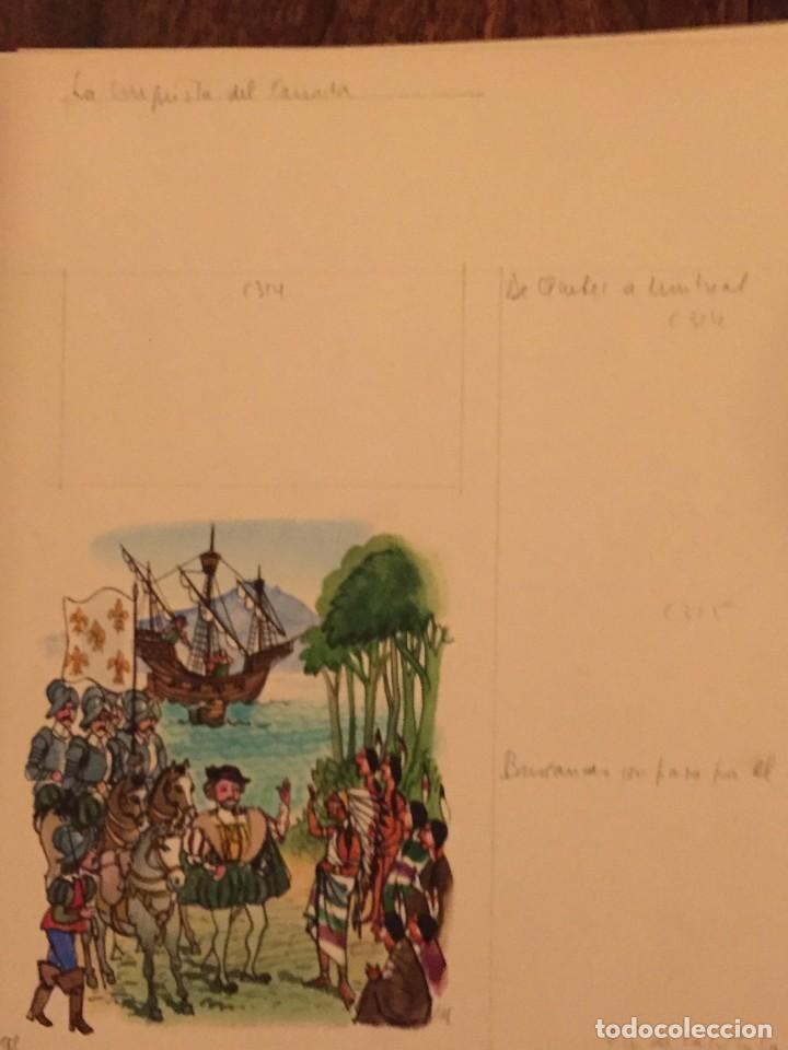Cómics: La Conquista del Canadá. Monnerat (Suiza 1917- Esp 2005), dibujo original - Foto 2 - 223462616