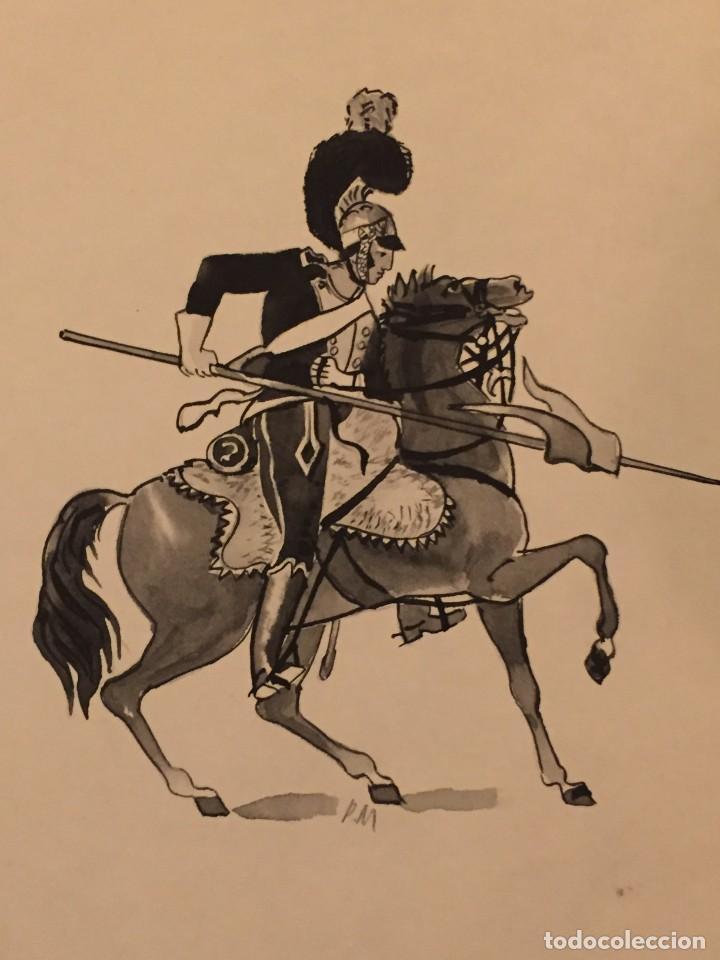 SOLDADO PRUSIANO. MONNERAT (SUIZA 1917- ESP 2005), DIBUJO ORIGINAL (Tebeos y Comics - Art Comic)