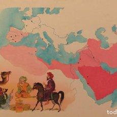 Cómics: LAS CONQUISTAS DEL ISLAM, DE PIERRE MONNERAT (SUIZA 1917- ESP 2005), SELLADO Y CATALOGADO. Lote 224050876