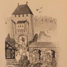 Cómics: LA VIDA EN LA CIUDAD FEUDAL, DE PIERRE MONNERAT (SUIZA 1917- ESP 2005),REPRODUCIDO Y SELLADO. Lote 224092108