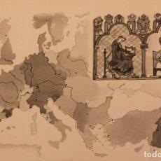 Cómics: LOS SIGLOS X AL XII, DE PIERRE MONNERAT (SUIZA 1917- ESP 2005),REPRODUCIDO Y FIRMADO. Lote 224099882