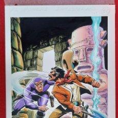 Comics: DIBUJO ORIGINAL COLOR PORTADA EL HOMBRE ENMASCARADO Nº 50 J.L. BLUME M9. Lote 224657362