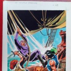 Cómics: DIBUJO ORIGINAL COLOR PORTADA EL HOMBRE ENMASCARADO Nº 48 J.L. BLUME M9. Lote 224657577
