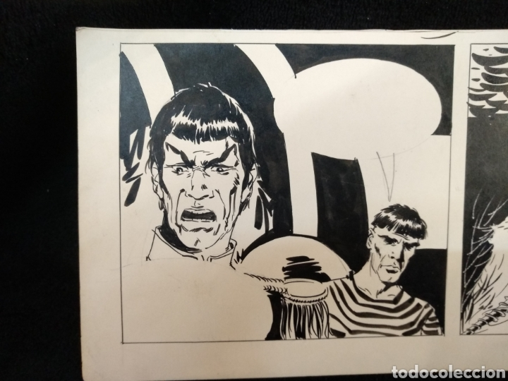 Cómics: Dibujo original Star Trek, Capitán Spock. Desconozco dibujante. - Foto 2 - 225130708