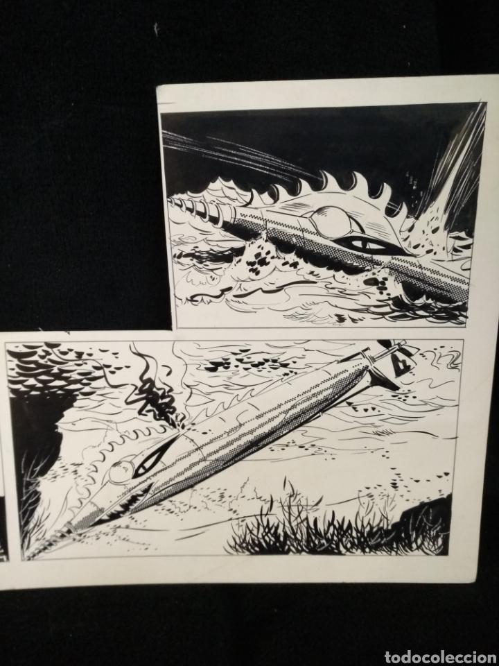 Cómics: Dibujo original Star Trek, Capitán Spock. Desconozco dibujante. - Foto 3 - 225130708