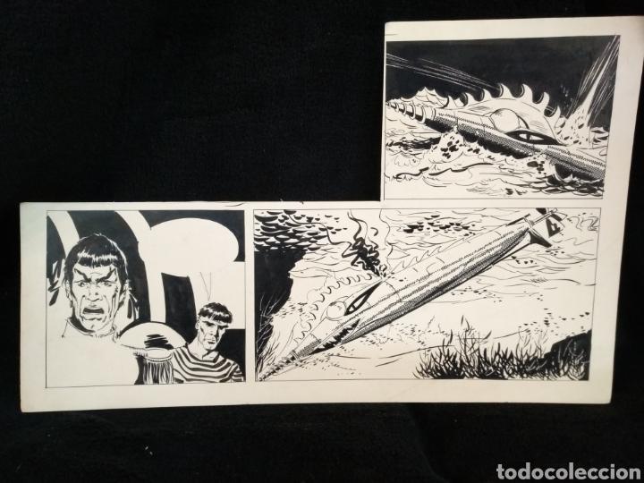 DIBUJO ORIGINAL STAR TREK, CAPITÁN SPOCK. DESCONOZCO DIBUJANTE. (Tebeos y Comics - Art Comic)
