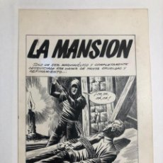 """Cómics: DIBUJOS Y GUIÓN ORIGINALES DE LA NOVELA GRÁFICA """"LA MANSIÓN"""". Lote 227069775"""