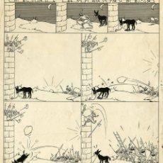 Cómics: DIBUJO ORIGINAL DE JOSEP COLL - GENIAL ESTRATAGEMA, TBO N.290, AÑO 1952. Lote 228102080