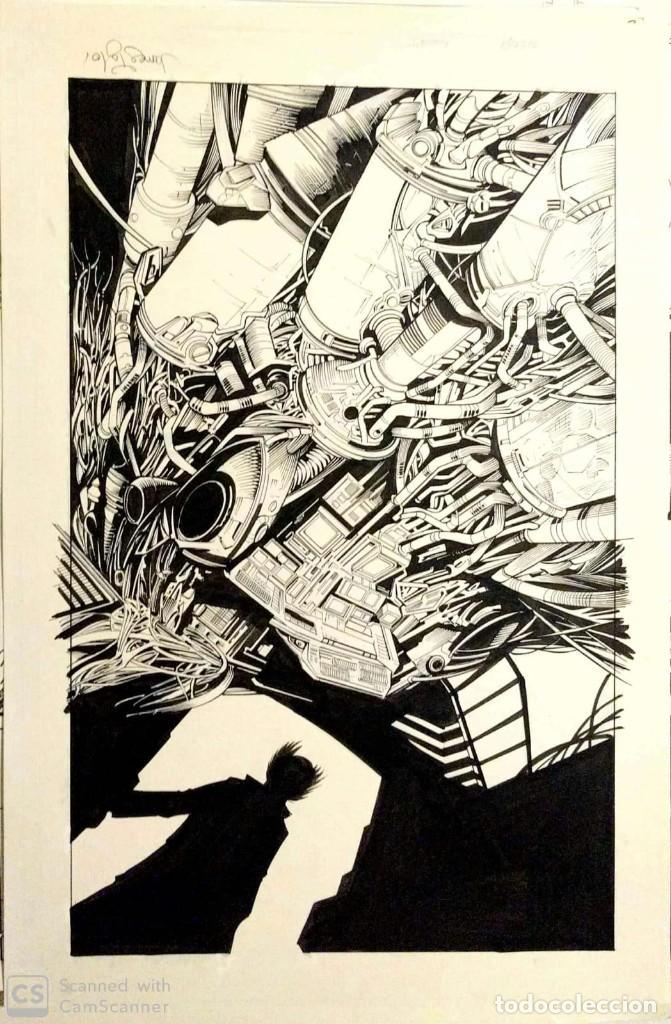 CONTRAPORTADA ORIGINAL DECOY - MARTIN MONTIEL / JAMES TAYLOR (Tebeos y Comics - Art Comic)