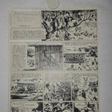 Fumetti: REVISTA FLECHA ROJA - DIBUJO ORIGINAL - 2 EPISODIOS DE 5 PÁGINAS CADA UNO - ILUSTRA JUAN QUIRÓS. Lote 230654010