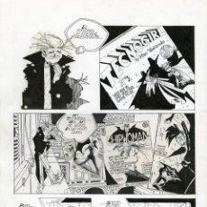 Cómics: DIBUJO ORIGINAL DE CARLOS MEGLIA - CYBERSIX, LIBRO 2, 1 P - P.50, EURA EDITORIALE. Lote 233495545