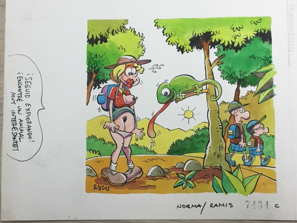 Cómics: Dibujo Original de Ramis - ¡Seguid Explorando! - 23x20cm - Foto 2 - 233580375