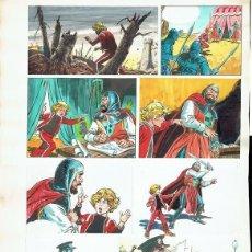 Cómics: DIBUJO ORIGINAL DE JESÚS BLASCO - AVENTURAS DE ZACARÍAS GRIMM, PRIMERAS NOTICIAS, 38 CM X 50 CM. Lote 234477225
