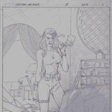 Cómics: ORIGINAL GOLDEN CRICKETS - CLAUDE ST AUBIN (SPLASH PAGE). Lote 235463240