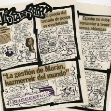 Cómics: DIBUJO ORIGINAL DE MANUEL VÁZQUEZ (SAPPO) - A VISTA DE SAPPO 2P (COMPLETO), EL PURO 25 P.8-9. Lote 236510280