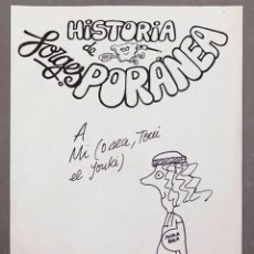 Cómics: FORGES - DIBUJO CON DEDICATORIA - FIRMADO. Lote 236583295