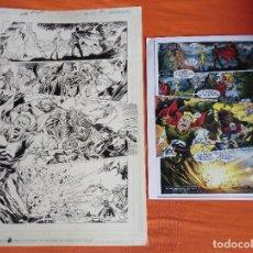 Cómics: PÁGINA ORIGINAL DC COMICS JUSTICE SOCIETY OF AMERICA Nº 40. JSA . JESÚS MERINO. THE FOURTH REICH.. Lote 237388010