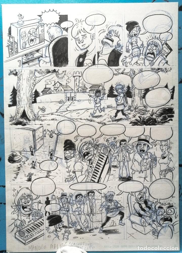 PÁGINA MANOLO MALIBÚ TAMAÑO B4 (Tebeos y Comics - Art Comic)
