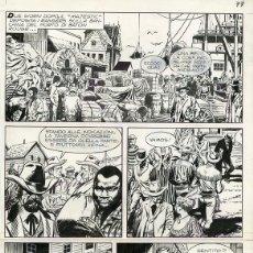 Cómics: DIBUJO ORIGINAL DE JESÚS BLASCO - TEX - LA BANDA DEL TESCHIO P.63, BONELLI EDITORE. Lote 238820285