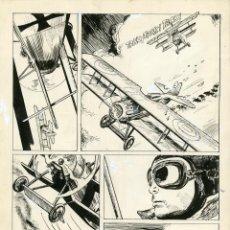 Cómics: DIBUJO ORIGINAL DE VICTOR HUGO ARIAS - LA ÚLTIMA MISIÓN DEL BARÓN ROJO P.3, SKORPIO N.99. Lote 240819535