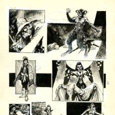 Cómics: DIBUJO ORIGINAL DE HORACIO LALIA - NEKRODAMUS, FONTAMARA P.10, SKORPIO N.66, AÑO 1975. Lote 243980275