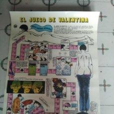 Cómics: EL JUEGO DE VALENTINA GUIDO CREPAX NUEVA FRONTERA 1978 POSTER ESPAÑOL - JUEGO 68 CM. X 50 CM.. Lote 245123690