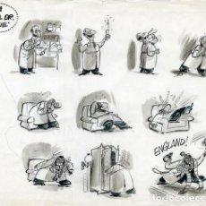 Cómics: DIBUJO ORIGINAL DE GIN - UNA DE EL DR. JEQUIL, EL PAPUS N.87 P.22-23, AÑO 1975. Lote 245551055