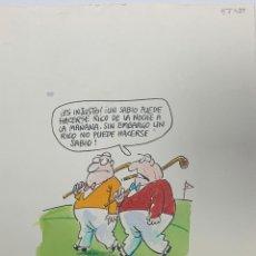 Cómics: DIBUJO ORIGINAL DE OLI PUBLICADO EN EL JUEVES. Lote 245636440