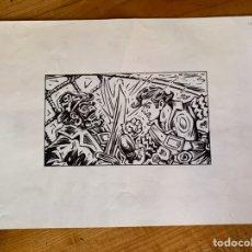 Cómics: DIBUJO ORIGINAL JUAN G. IRANZO (EL CACHORRO). Lote 245712995