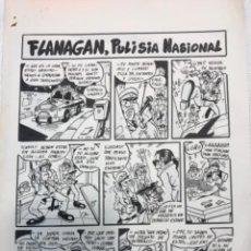 Cómics: DIBUJO ORIGINAL DE JORDY'91. FLANAGAN, PULISIA NACIONAL.. Lote 245783030