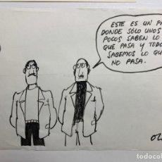 Comics: DIBUJO ORIGINAL DE OLI PUBLICADO EN PRENSA. Lote 246431030
