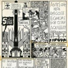 Cómics: DIBUJO ORIGINAL DE MIGUEL GALLARDO - OTAN SÍ, OTAN NO P.7, EDITORIAL LA CÚPULA. Lote 249516755