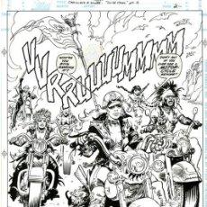 Comics: PÀGINA ORIGINAL CADILLACS AND DINOSAURS #1 PG.2 ESTEBAN MAROTO. Lote 251274195