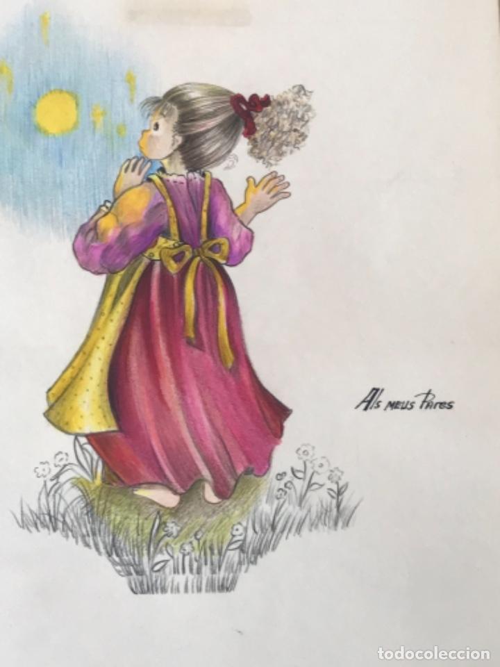 Cómics: 22 DIBUJOS ORIGINALES DE MARIA TERESA RAMOS PARA ILUSTRACIÓN DE LIBRO ANAHÍ 1983. - Foto 3 - 251933885