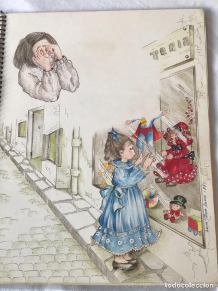 Cómics: 22 DIBUJOS ORIGINALES DE MARIA TERESA RAMOS PARA ILUSTRACIÓN DE LIBRO ANAHÍ 1983. - Foto 13 - 251933885