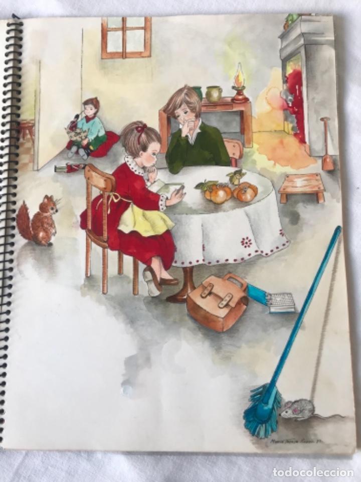 Cómics: 22 DIBUJOS ORIGINALES DE MARIA TERESA RAMOS PARA ILUSTRACIÓN DE LIBRO ANAHÍ 1983. - Foto 15 - 251933885