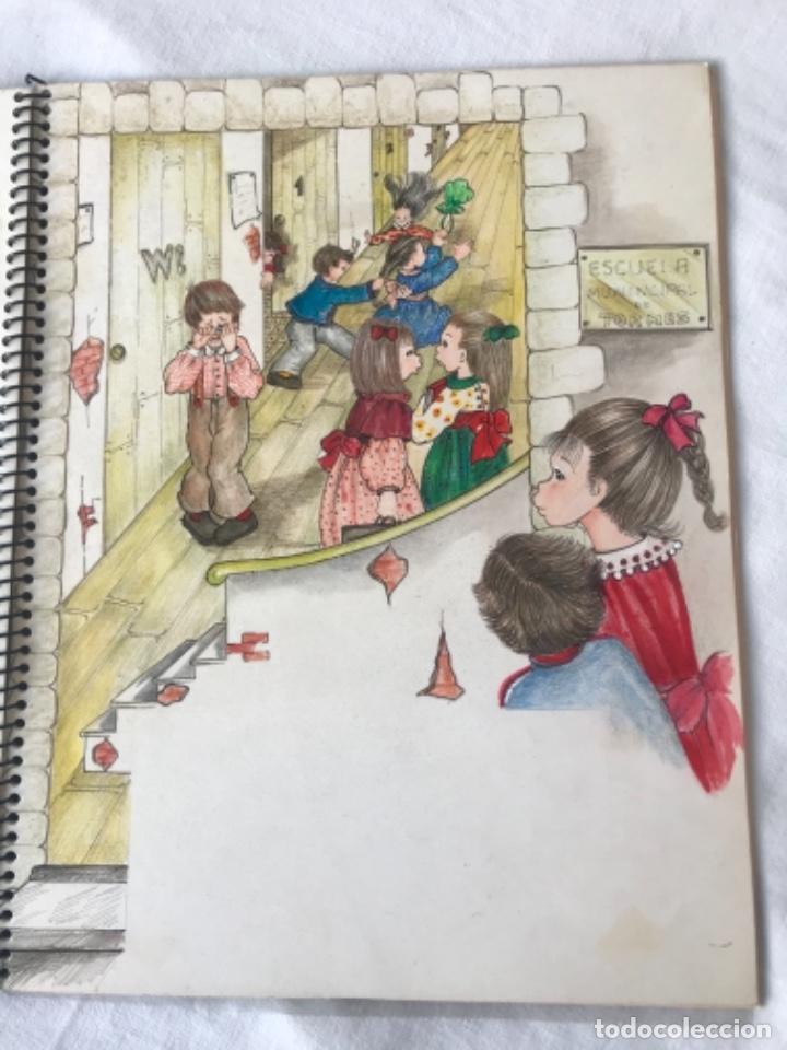 Cómics: 22 DIBUJOS ORIGINALES DE MARIA TERESA RAMOS PARA ILUSTRACIÓN DE LIBRO ANAHÍ 1983. - Foto 20 - 251933885
