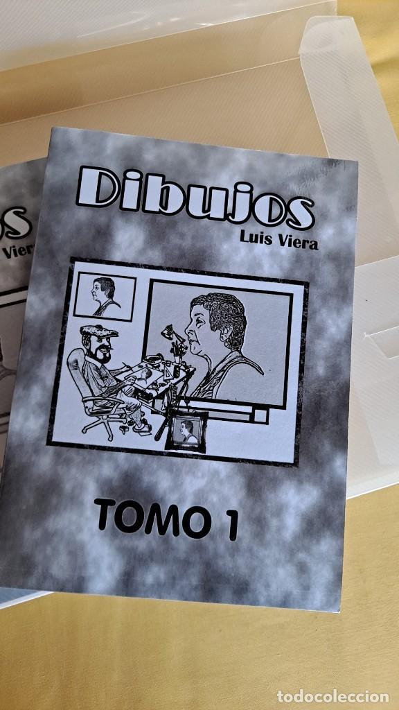 Cómics: LUIS VIERA - DIBUJOS - CARPETA CON DOS LIBROS DE DIBUJOS Y PERIÓDICOS (VER FOTOS) - Foto 2 - 253545195