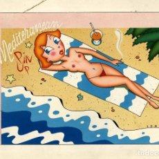 Fumetti: ORIGINAL DE TONINHO: MEDITERRANEUM PIN-UP: 41 X 29 CMS.. Lote 255452735