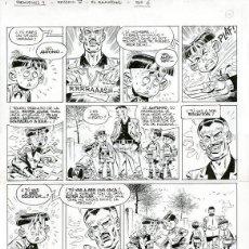 Cómics: PÁGINA ORIGINAL DE CARLOS GIMÉNEZ - PARACUELLOS IV, EL QUINCENAL P.6, PAPEL VIVO. Lote 260099935