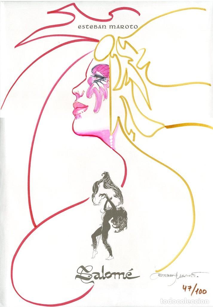 ESTEBAN MAROTO - PORTAFOLIO SALOMÉ 47/100 CON DIBUJO ORIGINAL, ECCARTEYCOLECCIONISMO 2019 (Tebeos y Comics - Art Comic)