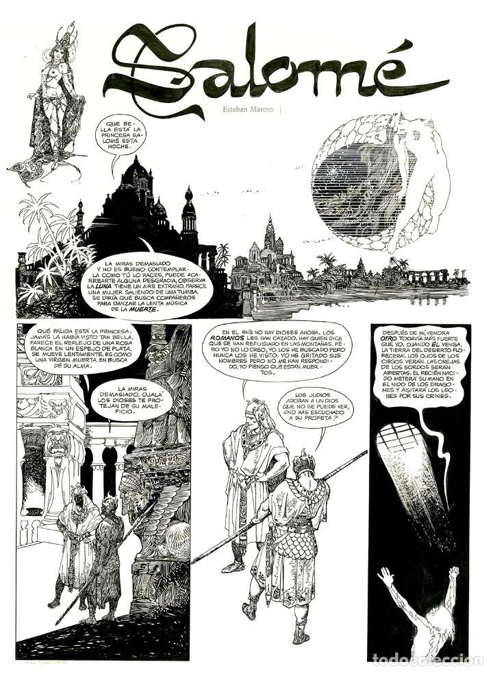 Cómics: Esteban Maroto - Portafolio Salomé 47/100 con Dibujo Original, ECCarteycoleccionismo 2019 - Foto 2 - 260101135