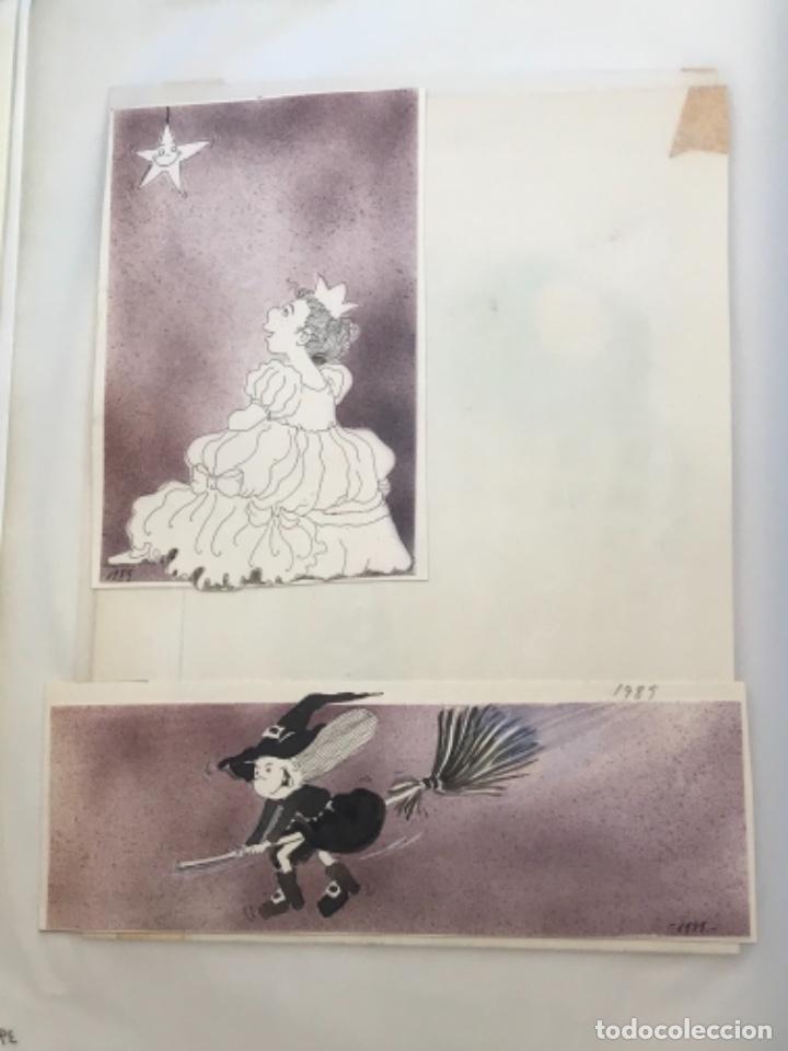 Cómics: MÁS DE 110 DIBUJOS ORIGINALES DE MARIA TERESA RAMOS PARA ILUSTRACIÓN DE LIBROS O CÓMICS. - Foto 22 - 261227700