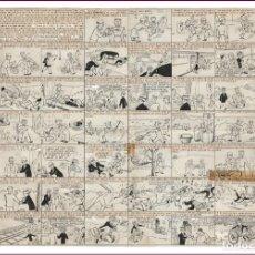 Cómics: DIBUJO ORGINAL DE BENEJAM: EL PROFESOR FRANZ PASA UN DÍA CON SU AUTÓMATA, PUBLICADO EN TBO DE 1947. Lote 261978165