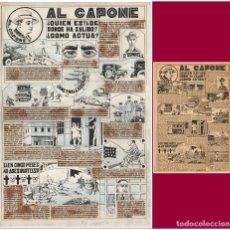 Cómics: DIBUJO ORIGINAL DE JOAN MACÍAS (NIT): AL CAPONE -¿QUIEN ES?. PUBLIICADO EN NUM. TBO 811 DE 1932. Lote 261978560