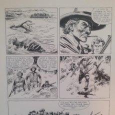 Comics: PAGINA ORIGINAL JOSE ORTIZ - TEX - EL ORO DEL SUR JOSE ORTIZ. Lote 263042330