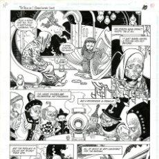 Cómics: DIBUJO ORIGINAL DE ENRIQUE ALCATENA - GREEN LANTERN ANNUAL 5 P.10, DC COMICS 1996. Lote 264334112